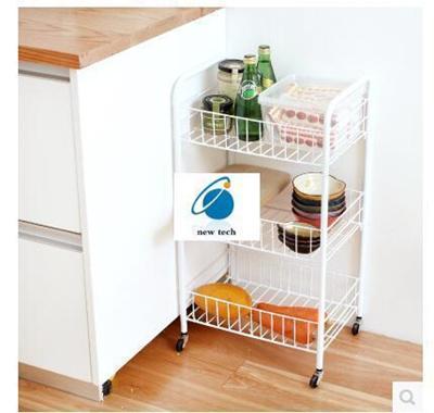 Lazy Corner Kitchen Vegetable Storage Rack Movable Shelving Rack Finishing  Basket Storage Rack Troll