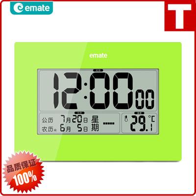 LCD Digital Zhong Wannian mute Chinese lunar calendar weeks calendar clock  digital thermometer Ema
