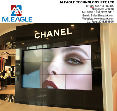 LCD video wall / TV wall / LED TV Wall - 55 inch with 1 7mm bezel