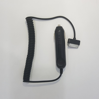 le accessoriesOEM Car Charger with Built-in Coiled 30-pin Connector Cable  for iPhone 4 4s