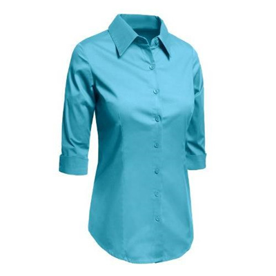 ff9c6093003 Qoo10 - (LE3NO) Women Shirts Blouses DIRECT FROM USA LE3NO Womens Roll Up 3  4...   Women s Clothing