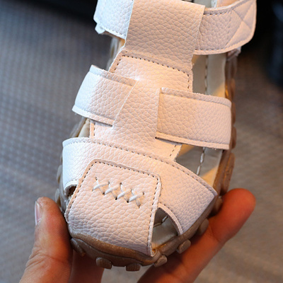 bccfc4cc3422 Qoo10 - leather sandals boys 2018 100% soft leather in summer the new boys  and...   Kids Fashion