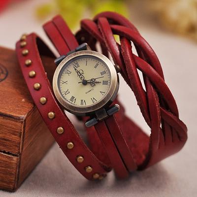 qoo10 leather quartz watches gold fashion leather