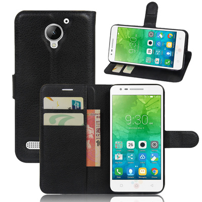 new style 339de a9125 Leather Wallet Phone Cases For Lenovo C2 k10a40 Cover Case Flip Magnetic  Stand Shell + Credit Card