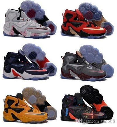 online store 6967d 49869 Lebron 13 xiii 25k Point Club iD Multicolor Men' s Basketball Shoes Miami  Style Red Green Purp