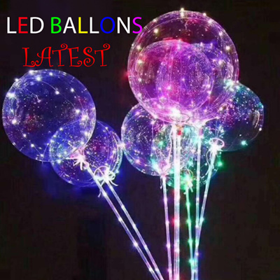 LED Ballons Lights Transparent Balloons Fairy Light Party Decoration Valentine
