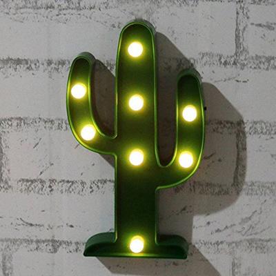 Led Cactus Lamp Lights Nightlight Kids Room Decor Wedding Party Christmas Decorations Battery Power