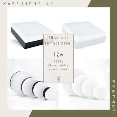 LED Ceiling Light Surface Mount Panel Acrylic 12w