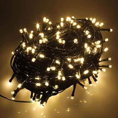 Led Christmas Fairy Lights Warm White 100leds 8 Modes Controller 2 Pin Power Plug Sale