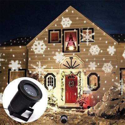 Christmas Projector Lights.Led Laser Christmas Lights Snowflake Led Light Decoration Projector Lighting Moving Sparkling Landsc