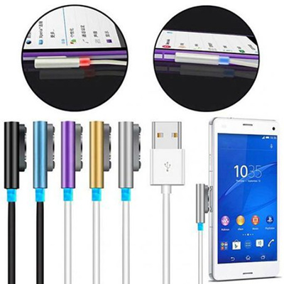 LED Magnetic Aluminum Metal USB Charging Cable For Sony Xperia Z1 Z2 Z3 Compact Z Ultra