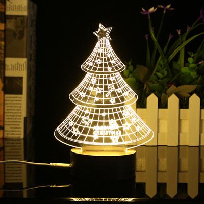 Qoo10 Led Night Light Xmas Christmas Trees Table Lamp Desk