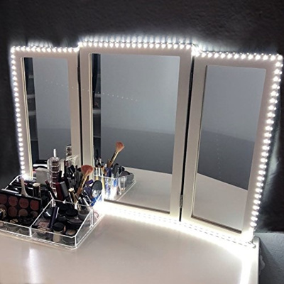 vanity set with mirror lights. LED Vanity Mirror Lights Kit For Makeup Dressing Table Set 13ft  Flexible Light Strip Qoo10