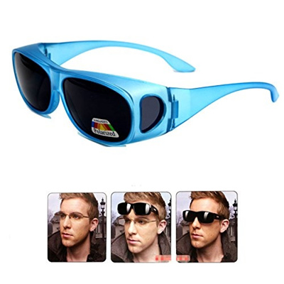 69d94573d8d5 Qoo10 - LEDING Wear Over sunglasses for men women Polarized lens