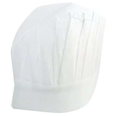 Lefv Disposable Chefs Hat White Paper Cooking Kitchen Hats 11 5 Inch Tall Pack Of 12