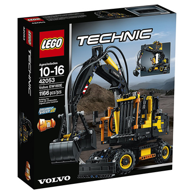 qoo10 lego technic 42053 volvo ew160e building kit toys. Black Bedroom Furniture Sets. Home Design Ideas