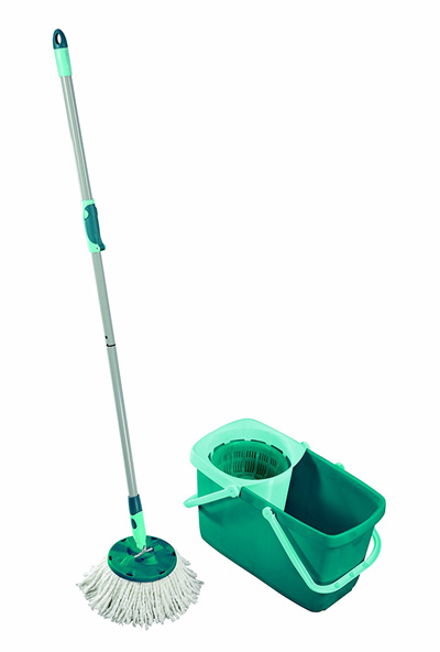 qoo10 leifheit clean twist spin mop system with bucket and round mop head household bedding. Black Bedroom Furniture Sets. Home Design Ideas