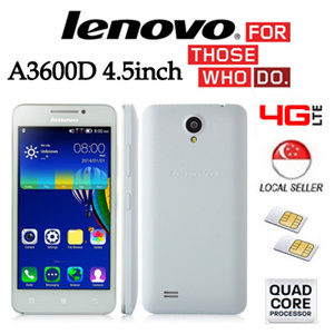 Lenovo A3600D 4 5inch Quad Core LTE Dual Sim Android Phone Export set with 6 Months Warranty