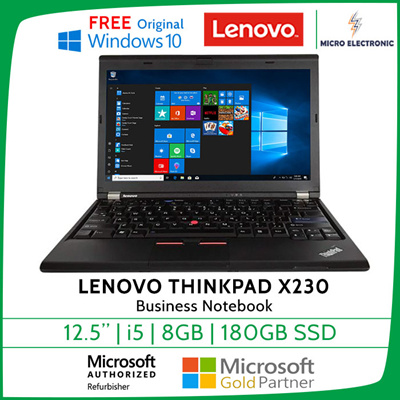 LenovoLenovo Thinkpad X230 Business Laptop Notebook Intel Core i5 / 8GB /  180GB SSD Windows 10  Local Stocks with 3 Months Warranty, Refurbished