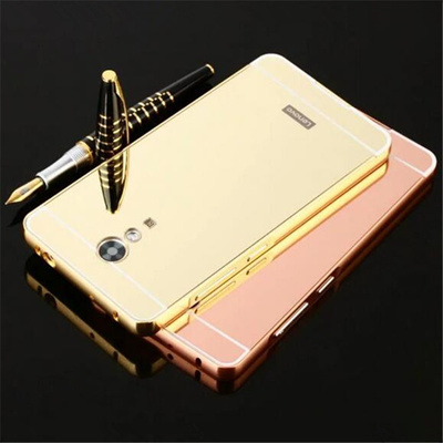 huge selection of 32cc4 cf0eb Lenovo Vibe P1 P2 Hybrid Cell Phone Shell Cover Cases CoqueGold Plated  Metal Aluminum Bumper +