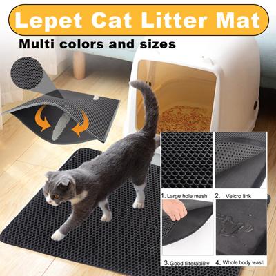 d62b75f21 Qoo10 - Lepet Cat Litter Mat Double-Layer Honeycomb Cat Litter Trapper with  Wa... : Pet Care