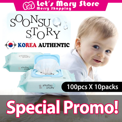 Lets Mary★ SoonSu Story ★ wet wipes★baby wipes★Korea No 1 Wet Wipe ★Safe  for baby★High quality /