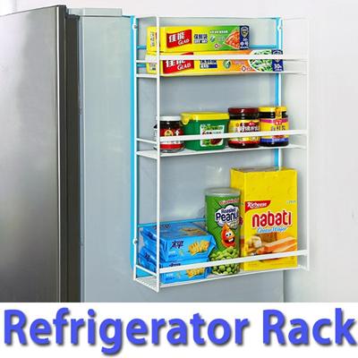 ☆Large Size Refrigerator Rack☆Multi Purpose Fridge Side Storage Rack Shelve  Frame Organizer