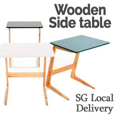 ☆WOODEN SIDE TABLE☆end Table/ Furniture/ Sofa Table / Snack Table/