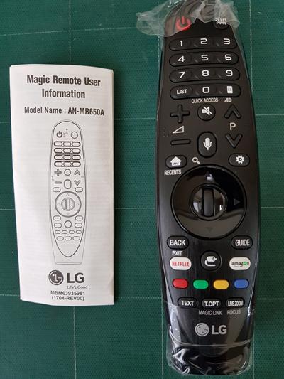 LG ElectronicsGenuine ORIGINAL LG AN-MR650A (ANMR650A) Smart TV Remote  Control