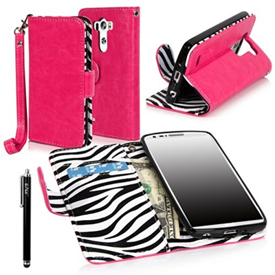 buy popular fc94c 8db0e LG G3 Vigor case, LG G3 Mini case, E LV LG G3 Mini case cover - Deluxe PU  Leather Flip Wallet Case C
