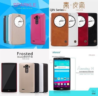 innovative design 7a6d2 17805 LG G4 H810 NILLKIN Case Cover and Tempered Glass Screen Protector NILLKIN