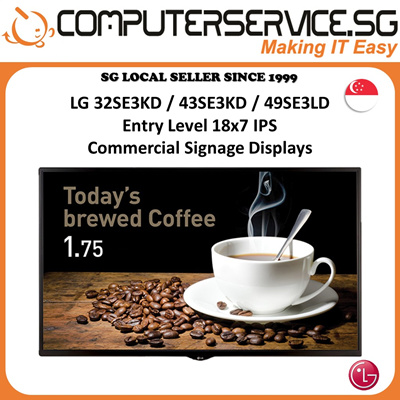 LGLG 32/43/49 inch Entry Level 18x7 IPS Commercial Signage Displays (Many  Models Available)