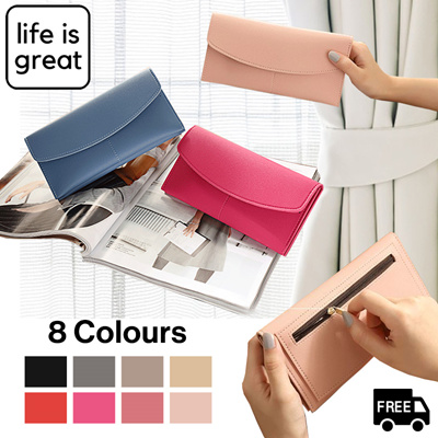 life is great*[8 Colours!]* Travel Overseas Wallet - 2nd Purchase 50%  Discount