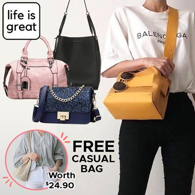 life is great*[FREE Casual Bag!]* Quality Classic Elegant Women HandBags