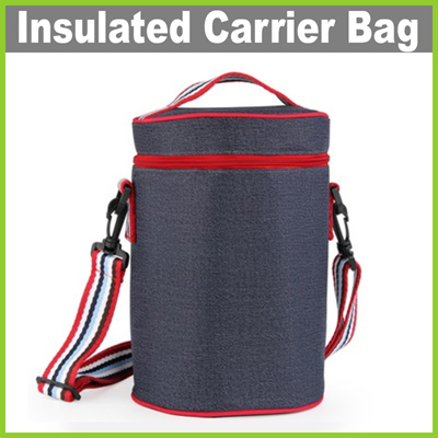 277a98a27c66 Lifehacks★ Round Insulated Carrier Bag ★ 3 Sizes! Outdoor Lunch Box Thermal  Cooler Bag Keep Food Warm or Cold