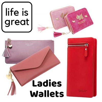 LIGLadies Elegant Classic Leather Long Wallet Notes Coin Phone Purse use