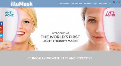 LIGHT THERAPY MASK IlluMask Anti Acne Light Therapy / Anti Aging  Phototherapy Mask ( Photo Gallery