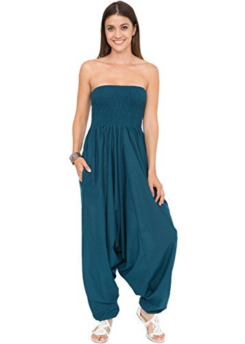d5ec0b56cd Qoo10 - (likemary) 2 in 1 Convertible Cotton Maxi Harem Pants and ...