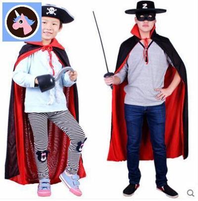 b972b3891230 Qoo10 - Lin Fang 145g Halloween costume pirate Zorro dress up children  adult d... : Kids Fashion
