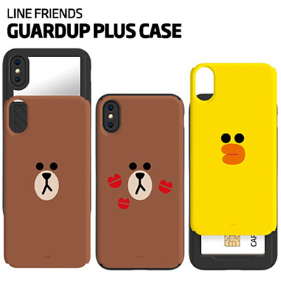 sports shoes dd754 ea73b LINE FRIENDS★Authentic★Line Friends Card / Mirror Bumper Case★iPhone  X/8/7/6/S/Plus/Galaxy Note 8/5/S8/Plus/S7