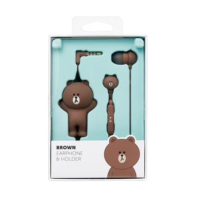 [ LINE FRIENDS] BROWN earphone/ Christmas gift/