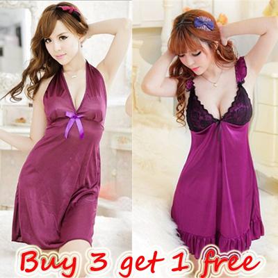 c52fdba80e Lingerie   Sexy Sleeping Wear   Ice silk nightgown   pyjamas Robe   Cosplay  Free Size