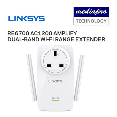 LinksysLinksys RE6700 AC1200 AMPLIFY Dual-Band Wi-Fi Range Extender - Local  Linksys Warranty