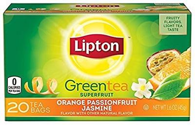 Qoo10 - Lipton Green Tea Bags, Orange