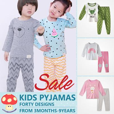 SANQIANG Little Boys Long Sleeve Pajamas Set Toddler Children Cotton Clothes Kids Pjs Pants Set