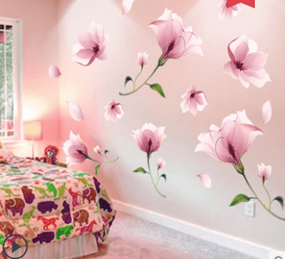Living Room 3d Stereo Warm Bedroom Wall Flower Wall Sticker Wallpaper Room Wallpaper Self Adhesive