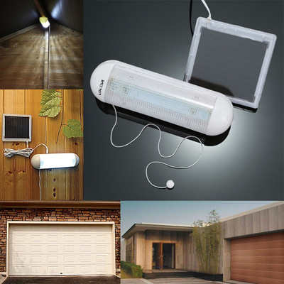 Lixada 5 LED Ultra Bright Outdoor Solar Powered Wall Light Shed Garage  Corridor Lamp with Pull Cord