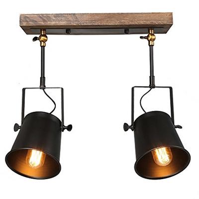 Lnc Wood Close To Ceiling Track Lighting Spotlights 2 Light Lights