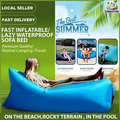 Qoo10 Inflatable Sofa Bed Sports Equipment