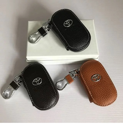 [Local SG] Handmade genuine leather high quality Toyota car Key fob Pouch  case cover